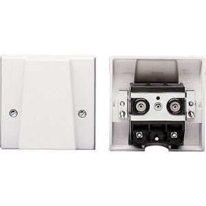 Volex Cooker Outlet Plate 1-Gang White