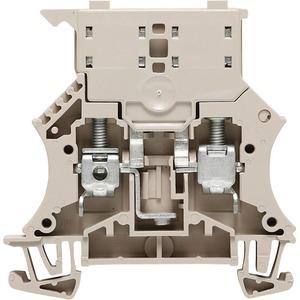 Weidmüller WSI 250V 6.3A Wemid Fuse Terminal Block 60 x 7.9 x 61mm Dark Beige