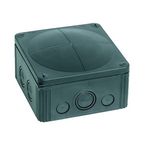 Wiska COMBI 1010/5/S 14-Inlet Polypropylene Junction Box 10mm² 140 x 140 x 82mm Black