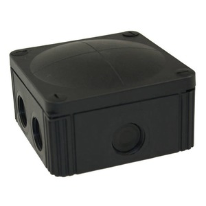Wiska COMBI 607/5/S 10-Inlet Polypropylene Junction Box 6mm² 110 x 110 x 66mm Black