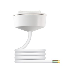 Hager Klik 4-Pin 6A PVC Pre-Wired Plug-In Ceiling Rose 2m x 0.75mm² White