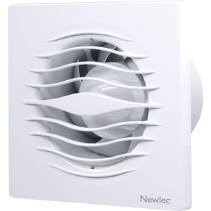 Newlec Low Profile Backdraught Shutters 100mm Fan with Timer - SELV