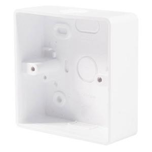 BG Round Edge 1-Gang Pattress Box 87 x 87 x 32mm White