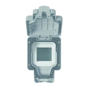 MK Electric Masterseal Plus Euro Format 1-Gang Data/Telecom Module Enclosure 157 x 110 x 89mm Grey