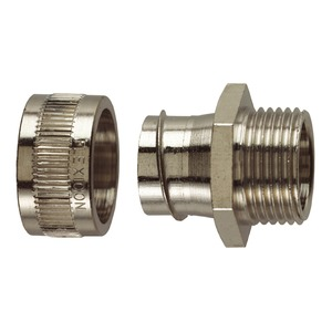 Flexicon Nickel-Plated Brass Type-M Flexible Conduit Fitting M25 x 19.1mm