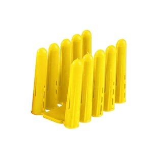 Newlec HDPE Wall Plugs Yellow 7.5 x 23mm No. 6 Yellow