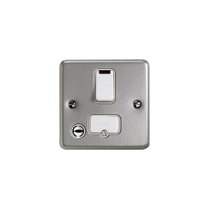 MK Metaclad Plus™ K972ALM 2-Pole 13A DP Switch with Flex Outlet Neon Grey