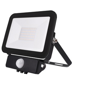 30W LED Outdoor Floodlight with PIR Black