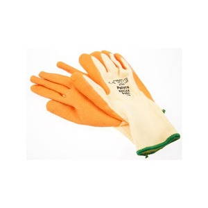Polyco Reflex Natural Rubber Palm Coated Glove with Knitted Polycotton Liner Orange Size 10