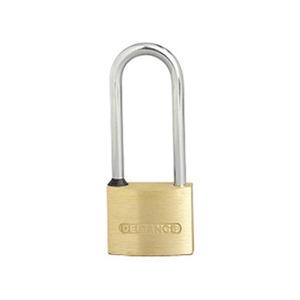 Heavy Duty Long Shackle Medium Security Padlock 40mm Brass/Chrome