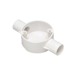 MK Electric Egatube PVC-U Through Box 2-Way 20mm White