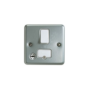 MK Metaclad Plus™ 2-Pole 13A DP Switch with Flex Outlet Grey