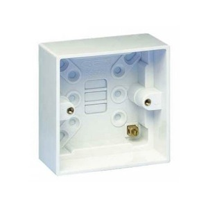 Hager Sollysta 1-Gang Moulded Surface Mount Pattress Box 46mm White