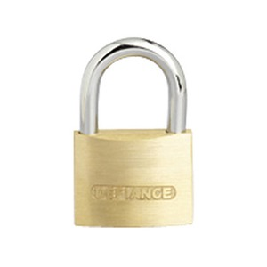 Solid Low Security Padlock 60mm Brass/Chrome