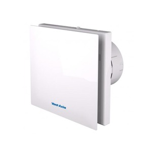 Axia Group VASF100 5W 75.6m³/h Silent Axial Bathroom/Toilet Fan with Timer 159 x 159 x 117mm