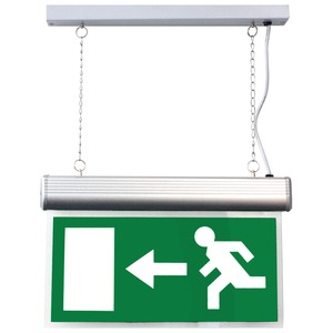 Newlec Euro Legend Arrow Left/Right LED Ceiling/Suspended Exit Sign IP20