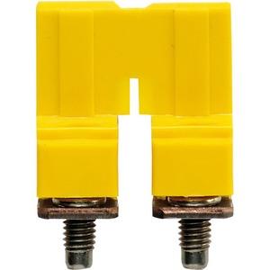 Weidmuller WQV 2-Pole 57A 9.9mm Polyamide 66 Cross-Connector 16.9 x 7.55 x 18mm Yellow