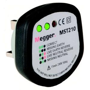 Megger 230V AC Socket Tester with 3 LED 69 x 67 x 32mm