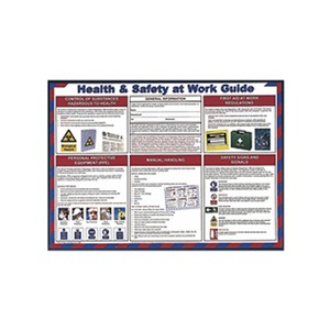 Safety Poster Health & Safety At Work Guide 420x600mm