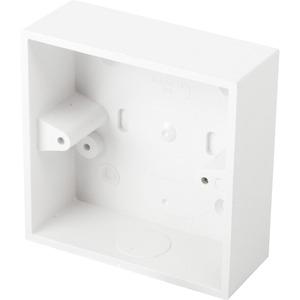 Newlec Square Corner PVC Conduit Back Box 1 Gang 32mm White