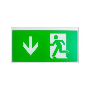 Newlec ISO Legend Arrow Down LED Ceiling/Suspended Exit Sign IP20