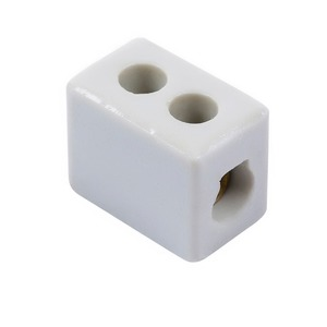 Niglon 1-Pole 450V 15A Porcelain Electrical Connector 21 x 33 x 17mm