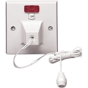 Volex Ceiling Switch with Neon 2-Pole 50A White
