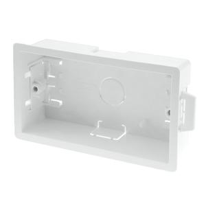 Newlec Thermoplastic Dry Lining Box 2 Gang 35mm White