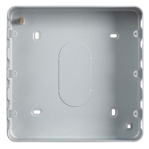 MK Electric Grid Plus Steel Surface Mount Back Box 18-Gang 194 x 194 x 40mm