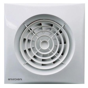 Envirovent Silent 100 Whisper Quiet WC & Bathroom Fan 158 x 158 x 109.3mm with Humidity Sensor White