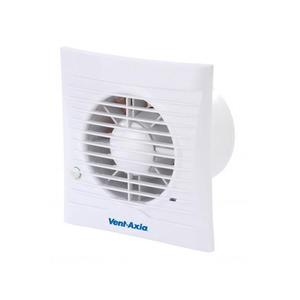 Axia Group Silhouette 100 14W 75m³/h Bathroom/Toilet Fan with Timer/PIR 147 x 86 x 65mm