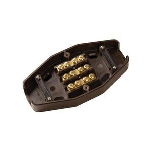 BG Electrical Heavy duty Junction Box 3-Way 60A 160 x 81 x 40.5mm Brown