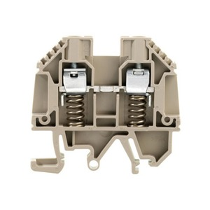 Weidmuller WDU 630V 41A Feed-Through Terminal Block 60 x 7.9 x 51.1mm Dark Beige