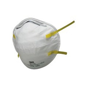 Unvavled Cup-Shaped Dust & Mist Respirator White