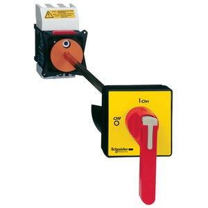 Schneider TeSys Emergency Stop Switch Disconnector Vario 3-Pole 3NO 125A Red/Yellow