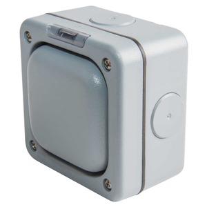 MK Masterseal Plus™ 1-Pole 1-Gang 1-Way 10A Switch 95 x 95 x 57mm Grey