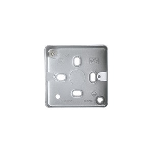 MK Electric Steel Surface Mount Back Box 1-Gang 86 x 86 x 38mm