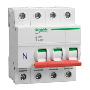 Schneider Acti9 3-Pole + Neutral Switch Disconnector 125A