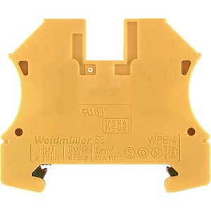 Weidmüller WPE Wemid PE Terminal Block 56 x 6.1 x 46.5mm Green/Yellow