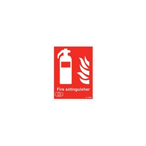 Fire Extinguisher Sign 200x150mm Red/White