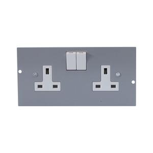 Newlec Floorbox Twin Socket Outlet Plate
