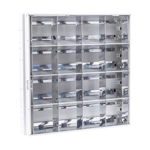 Newlec T5 High Efficiency Recessed Modular Luminaire & Louvre IP20 4 x 14W
