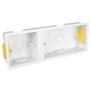 APPLEBY 1 + 2-Gang Dual Dry Lining Box 220 x 73 x 36mm White