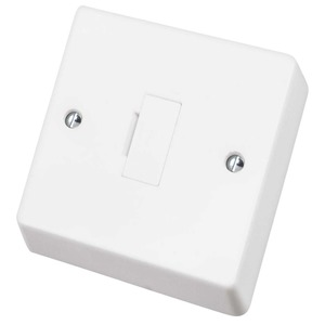 1-Gang Unswitched Fuse Connection Unit 13A White