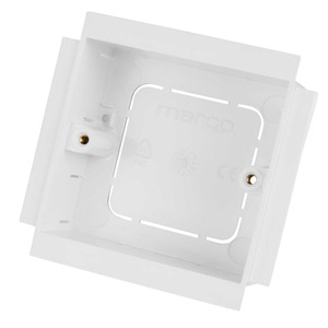 Marco 1-Gang 2-Pillar Socket Mounting Box 35mm White