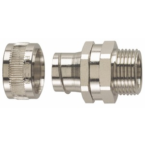 Flexicon Nickel-Plated Brass Type-S Swivel Adaptor M20 x 15.3mm