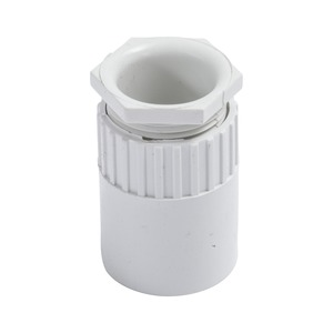 Newlec Round PVC Conduit Female Adaptor 25mm White