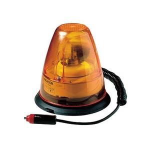 Hazard Warning Rotating Beacon 12V Orange/Black