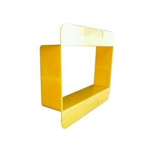 Appleby 2-Gang Safety Shield 130 x 70 x 30mm Yellow