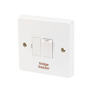 Crabtree Fridge/Freeze Switched Fuse Connection Unit 1-Gang 2-Pole 13A White
